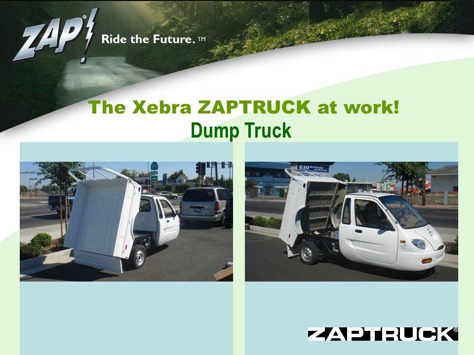 The Xebra ZAPTRUCK at work! Dump Truck