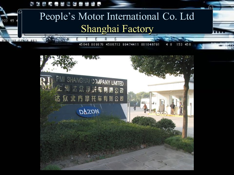 People's Motor International Co. Ltd Shanghai Factory