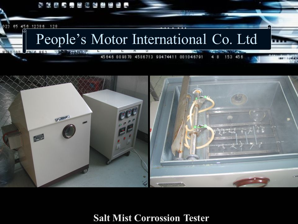 People's Motor International Co. Ltd Salt Mist Corrossion Tester