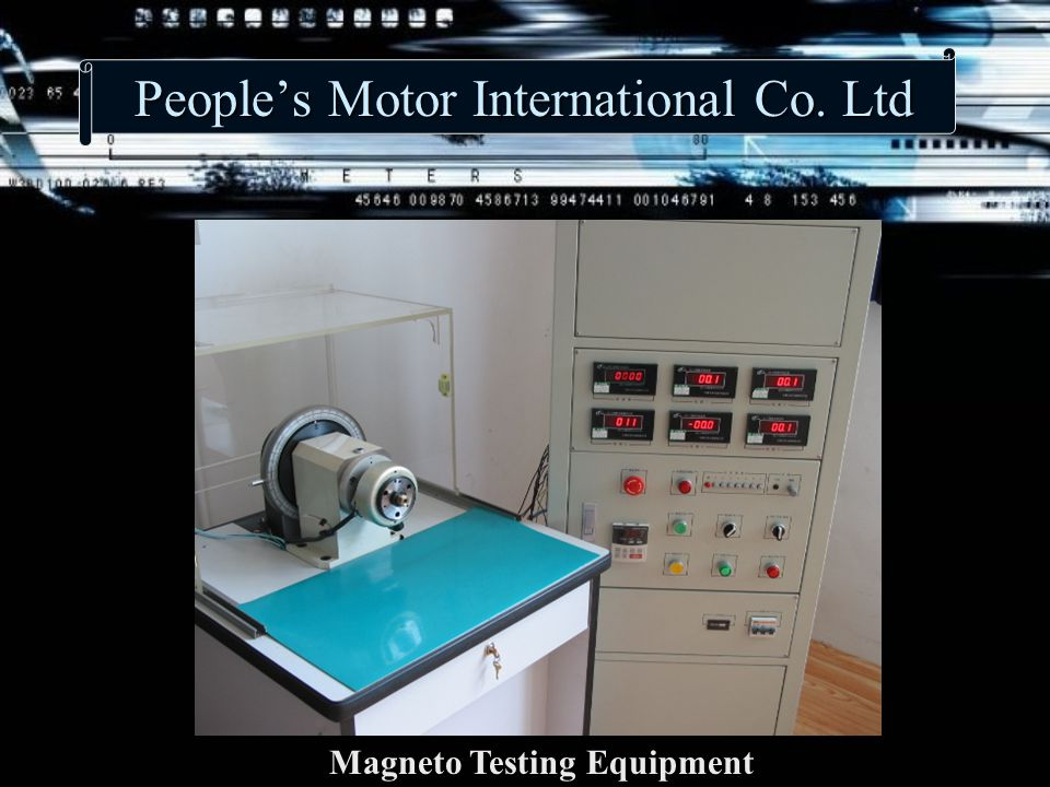 People's Motor International Co. Ltd Magneto Testing Equipment
