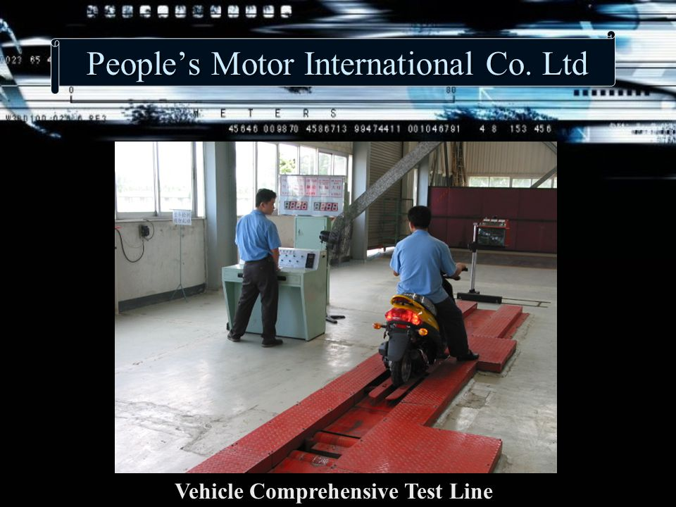 People's Motor International Co. Ltd Vehicle Comprehensive Test Line
