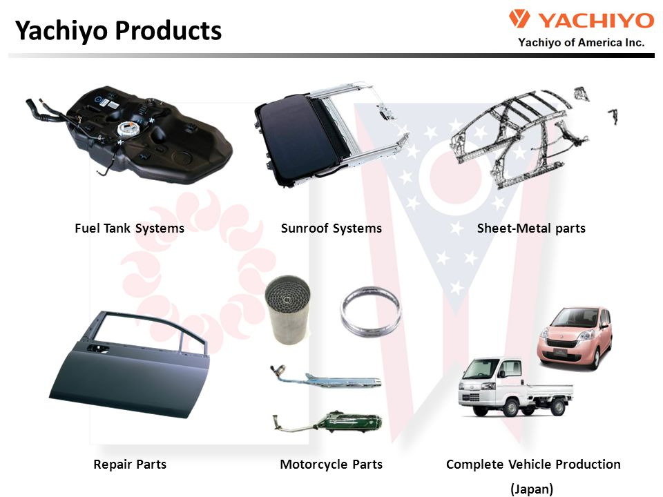 Sunroof Systems Fuel Tank SystemsSheet-Metal parts Complete Vehicle Production (Japan) Yachiyo Products Repair Parts Motorcycle Parts