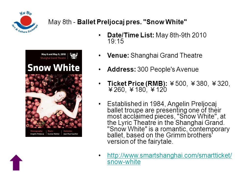 May 8th - Ballet Preljocaj pres.