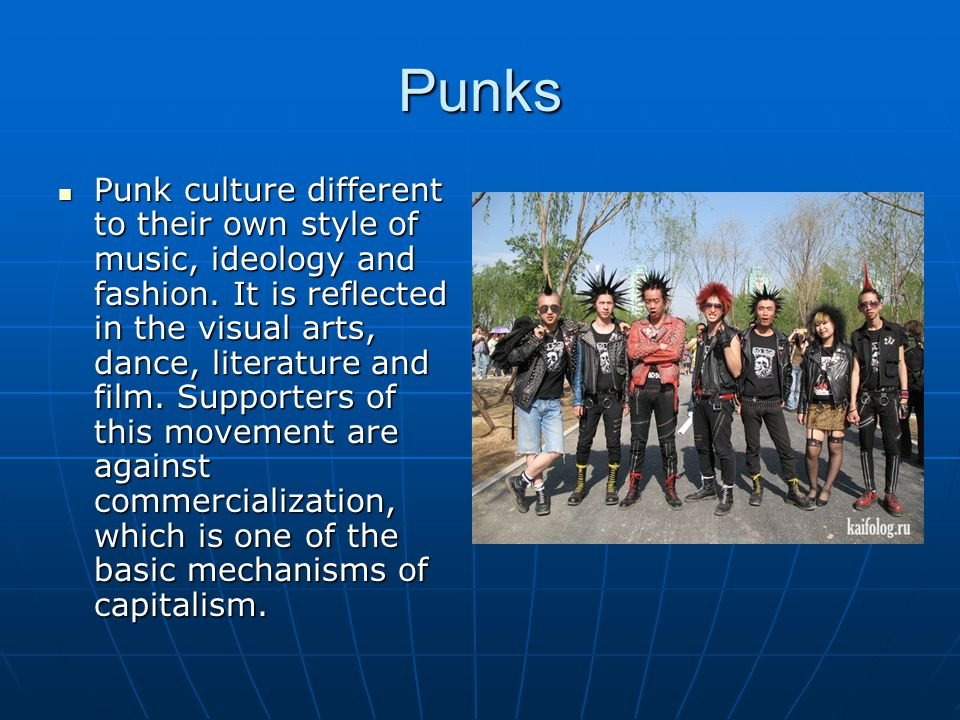 Goths Goths.Subculture prepared a modern trend, which is common to many countries.