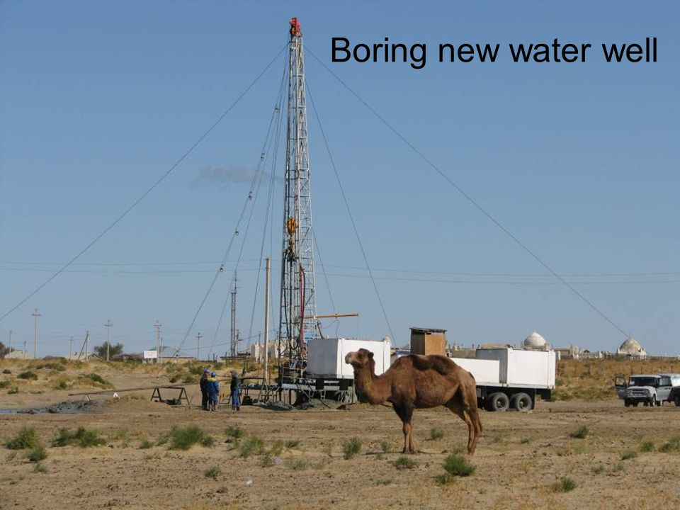 Boring new water well