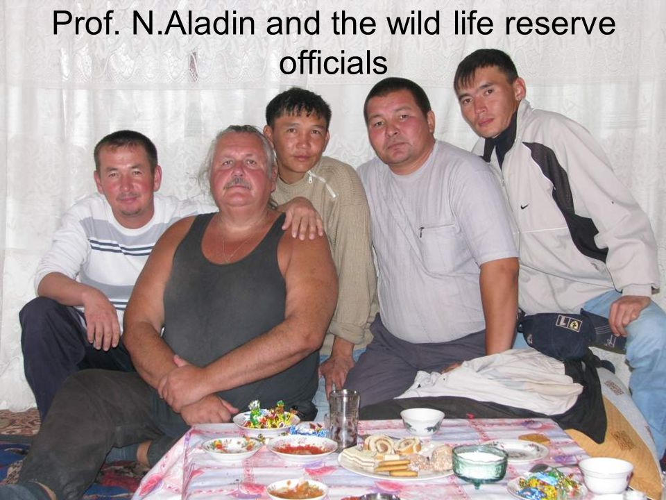Prof. N.Aladin and the wild life reserve officials