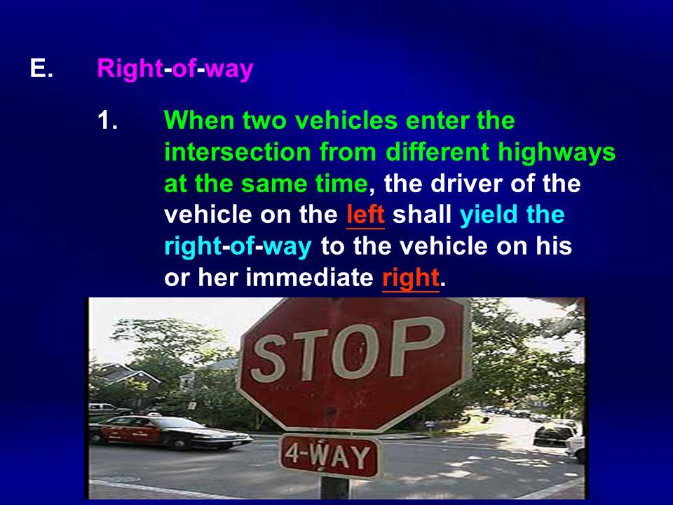 E.Right-of-way 1.