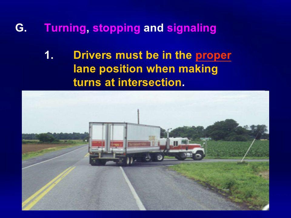 G.Turning, stopping and signaling 1.