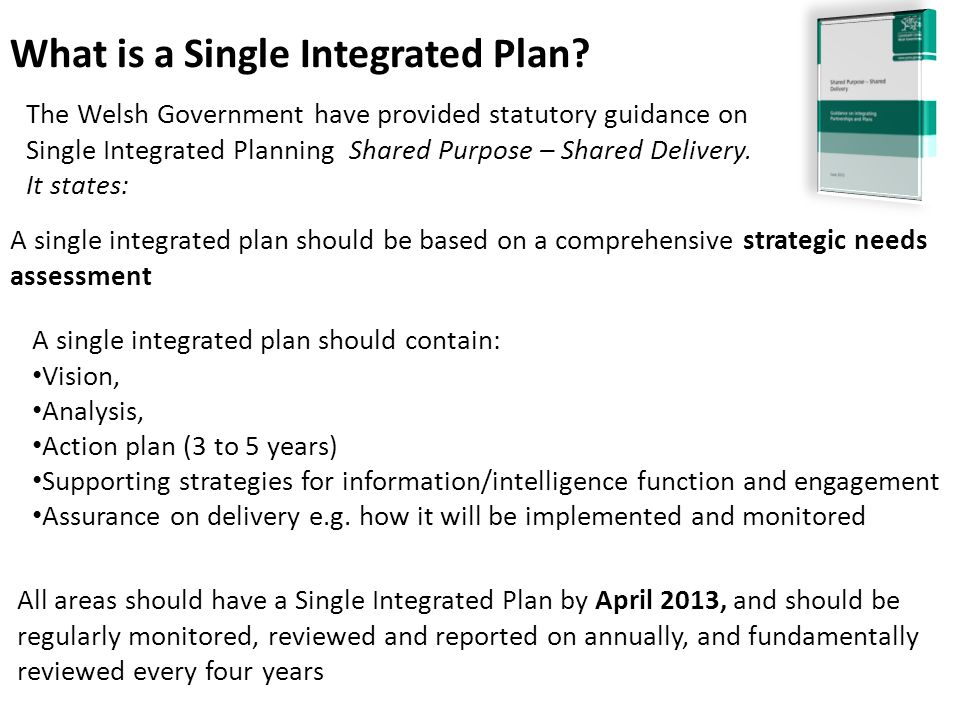 What is a Single Integrated Plan.