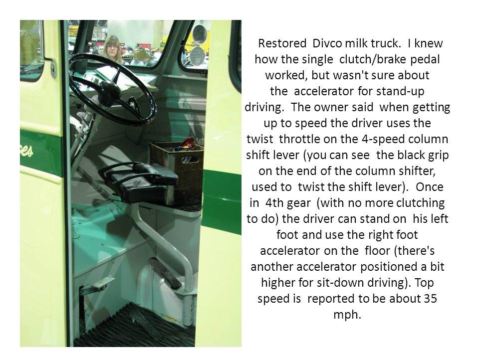 Restored Divco milk truck.