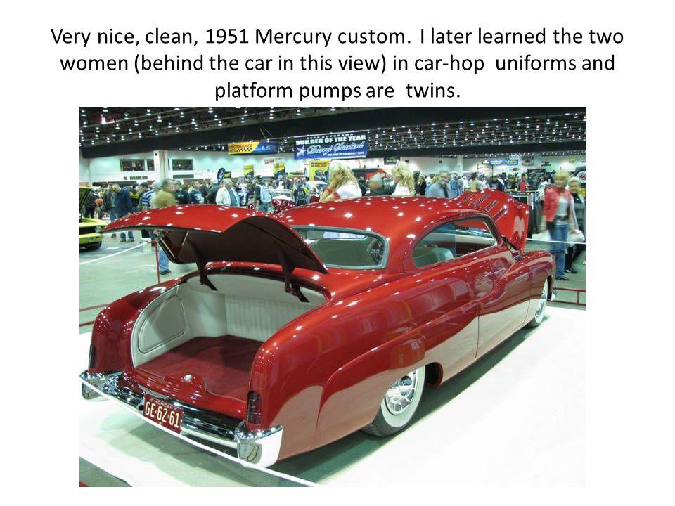 Very nice, clean, 1951 Mercury custom.
