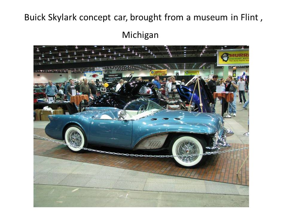 Buick Skylark concept car, brought from a museum in Flint, Michigan