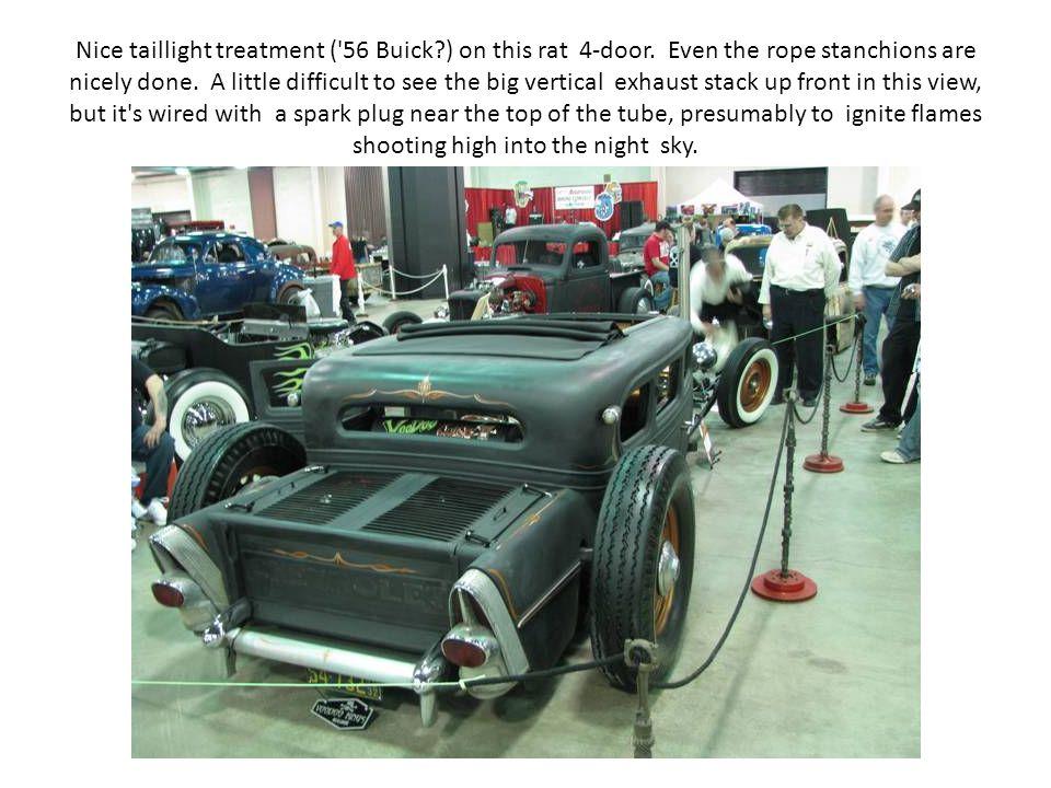 Nice taillight treatment ( 56 Buick ) on this rat 4-door.