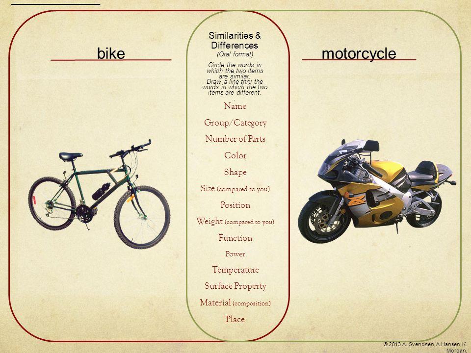 bikemotorcycle © 2013 A. Svendsen, A.Hansen, K. Morgan.