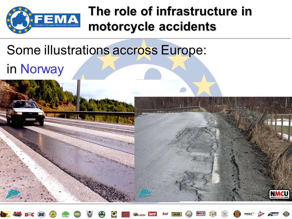 6/47 Some illustrations accross Europe: in Norway The role of infrastructure in motorcycle accidents