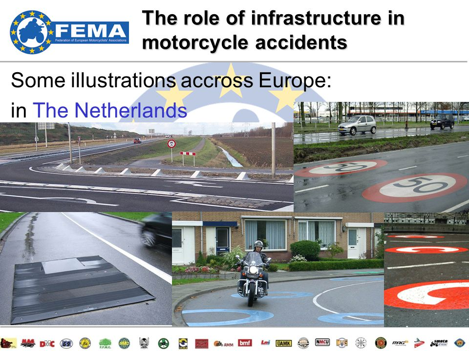 7/47 Some illustrations accross Europe: in The Netherlands The role of infrastructure in motorcycle accidents