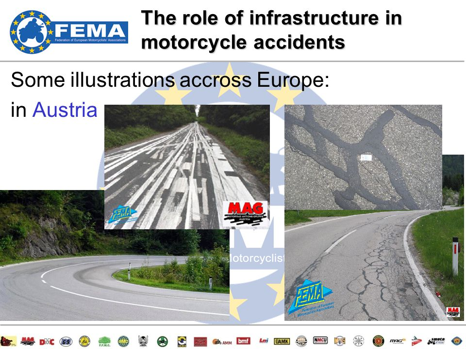 9/47 Some illustrations accross Europe: in Austria The role of infrastructure in motorcycle accidents