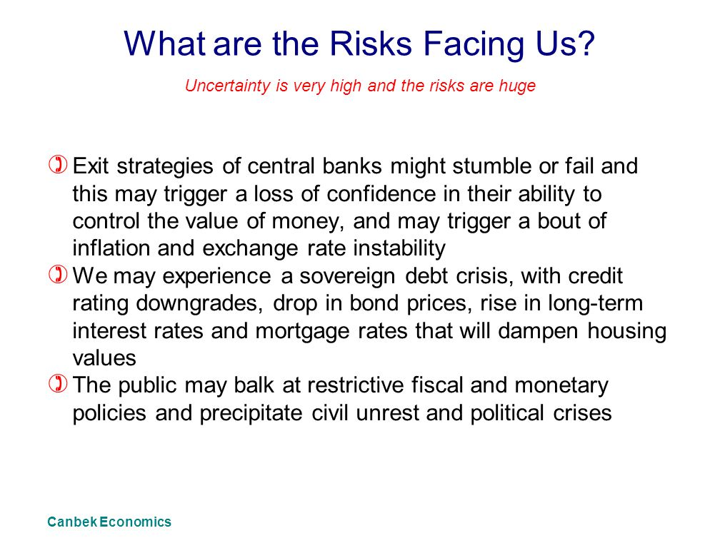 What are the Risks Facing Us.