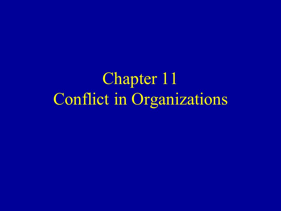 Ethical Issues in Conflict in Organizations (Cont.) Deliberately increasing conflict is an effort to guide behavior in a desired direction –Subtle methods of increasing conflict (forming heterogeneous groups) connote manipulation –Full disclosure: manager states his intention to use conflict to generate ideas and innovation –If people are free to join a group or not, the ethical issue likely subsides
