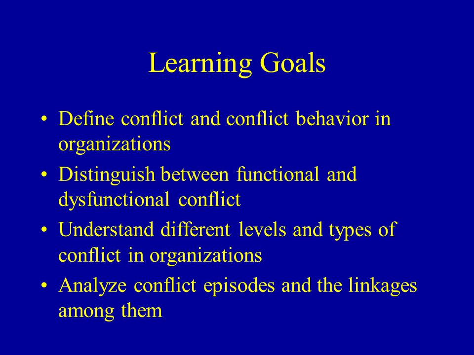 Reducing Conflict (Cont.) Win-win methods –Problem solving: find root causes –Integration: meet interests and desires of all parties –Superordinate goal: desired by all but not reachable alone