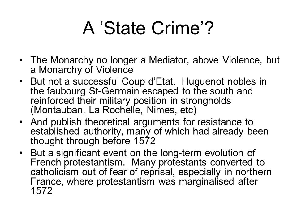 A 'State Crime'.