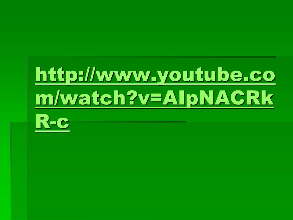http://www.youtube.co m/watch v=AIpNACRk R-c http://www.youtube.co m/watch v=AIpNACRk R-c