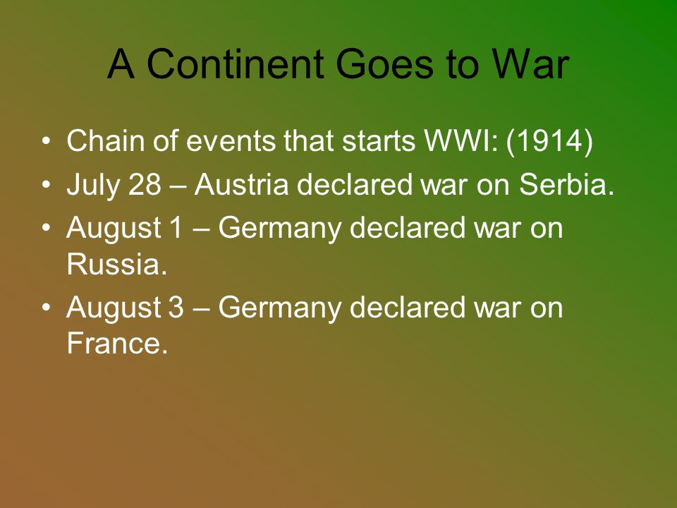 The Allies France, Russia, Great Britain, and later Italy – fought for the Triple Entente.