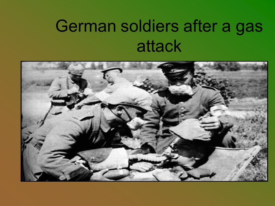 German soldiers after a gas attack