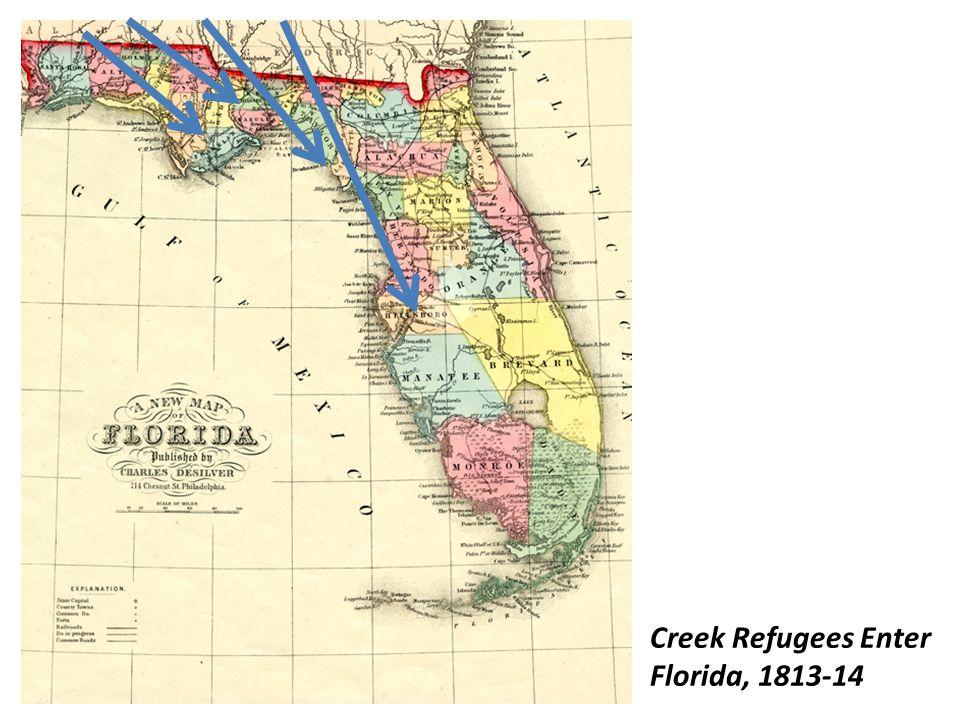 Creek Refugees Enter Florida, 1813-14