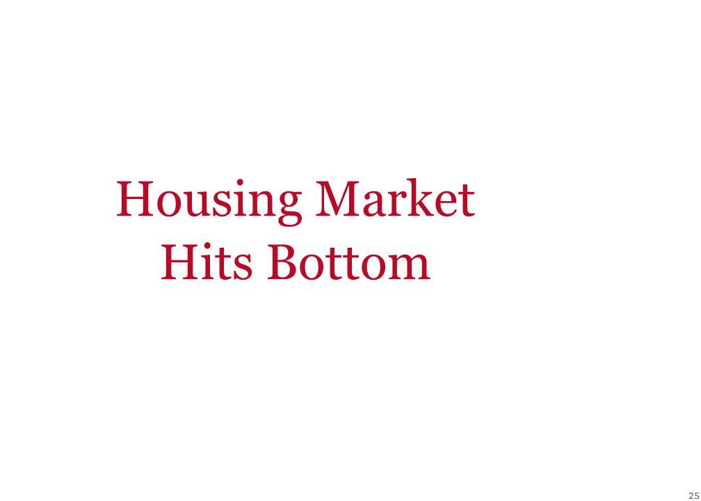 25 Housing Market Hits Bottom