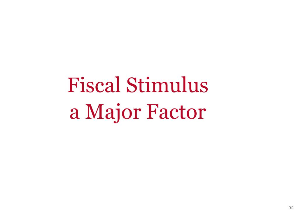 35 Fiscal Stimulus a Major Factor