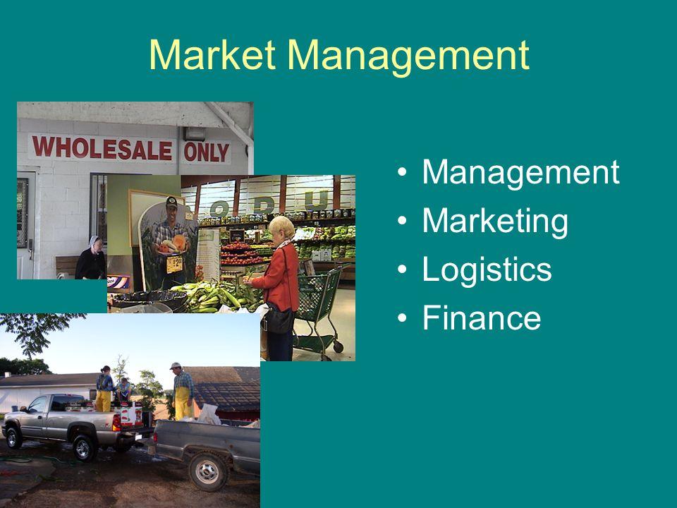 Market Management Management Marketing Logistics Finance