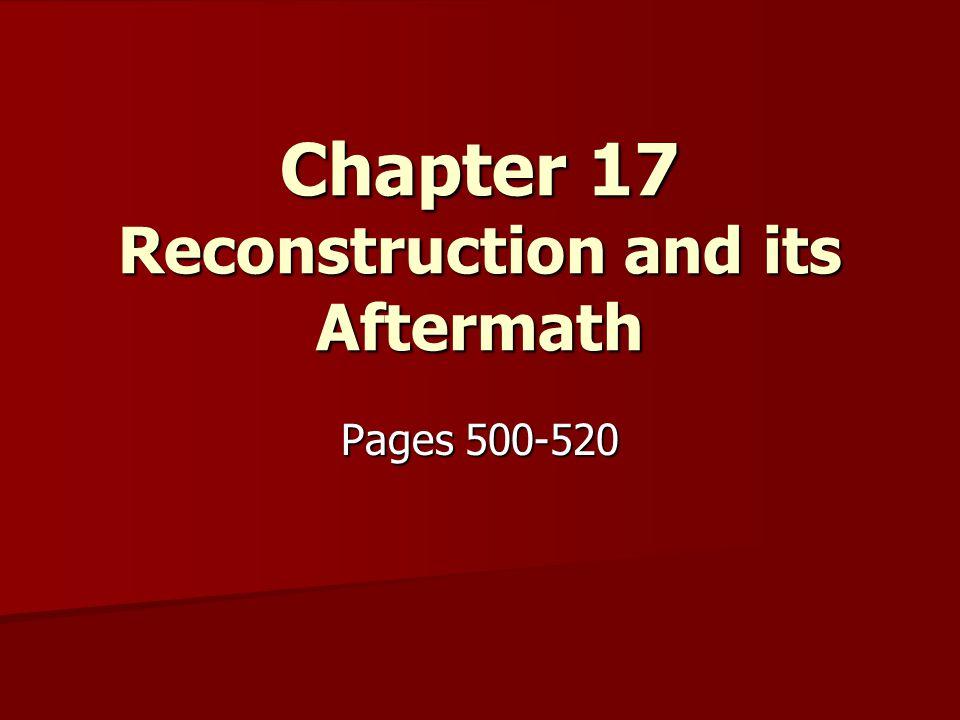 Reconstruction Plans pgs.