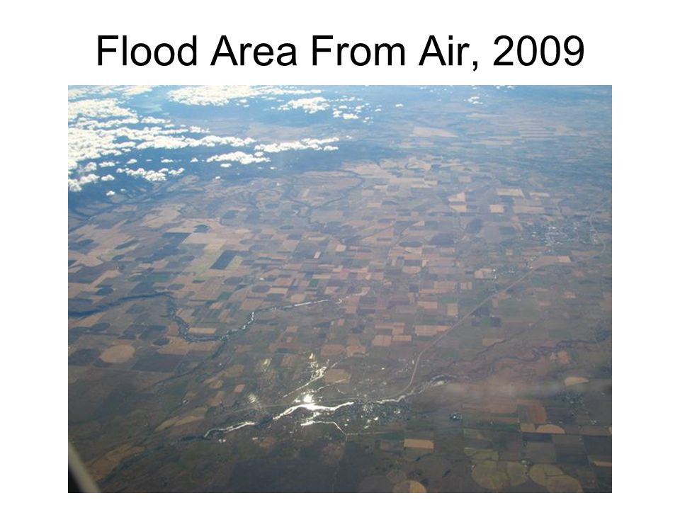 Flood Area From Air, 2009