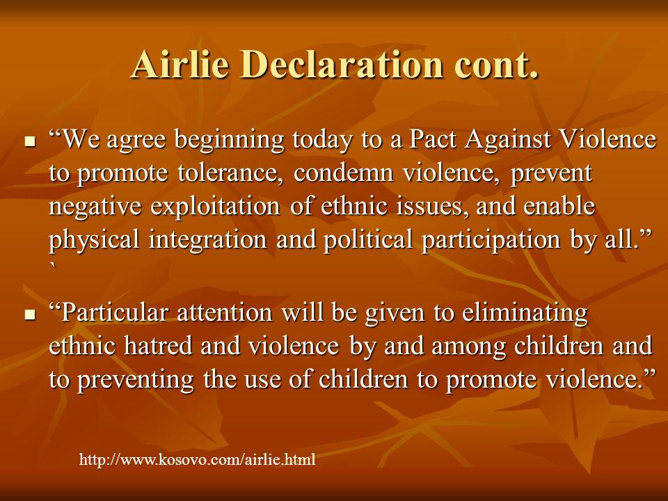 Airlie Declaration cont.