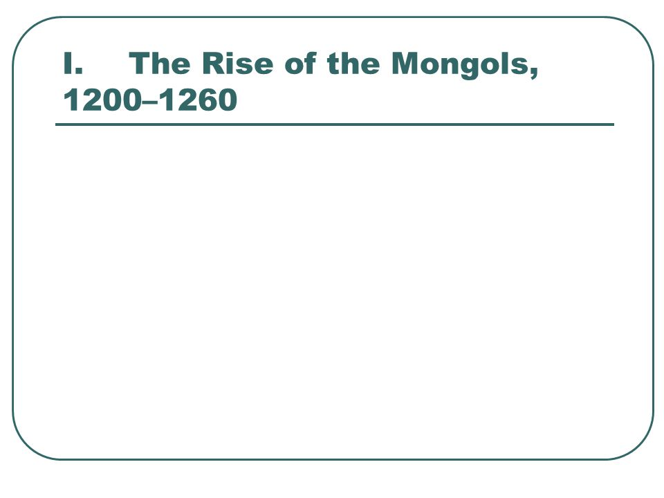 C.Overland Trade and the Plague 2.Diseases including the bubonic plague also spread over the trade routes of the Mongol Empire.