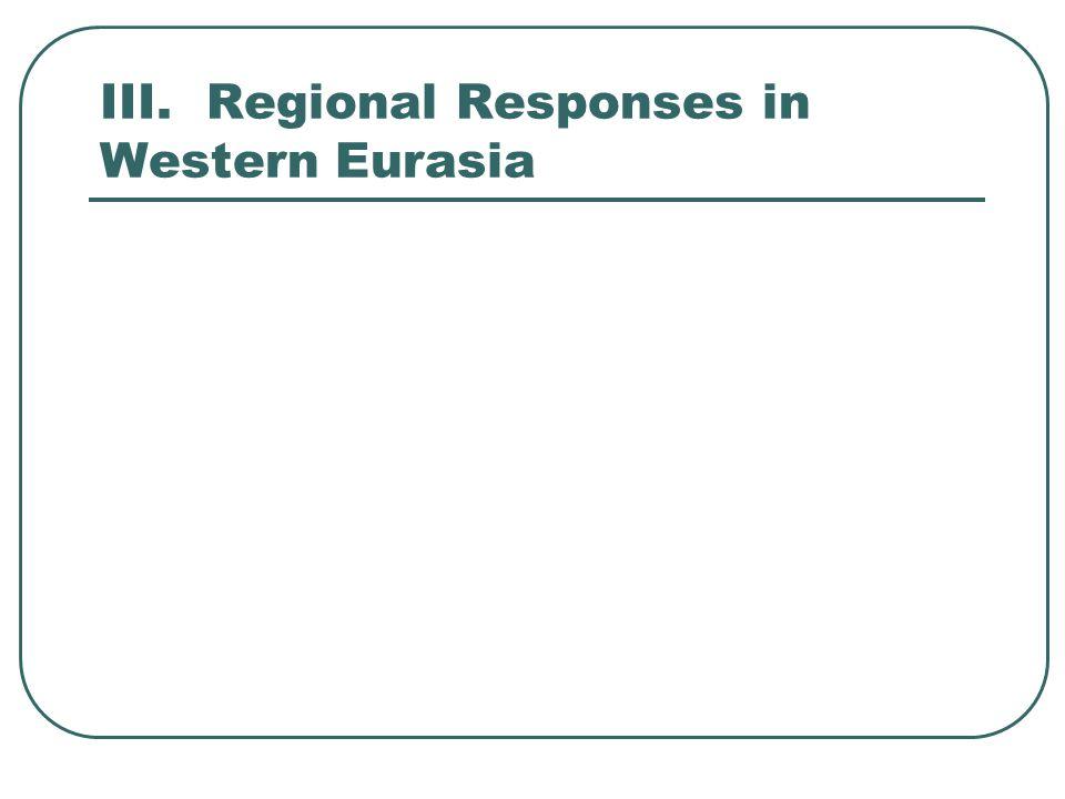 III.Regional Responses in Western Eurasia
