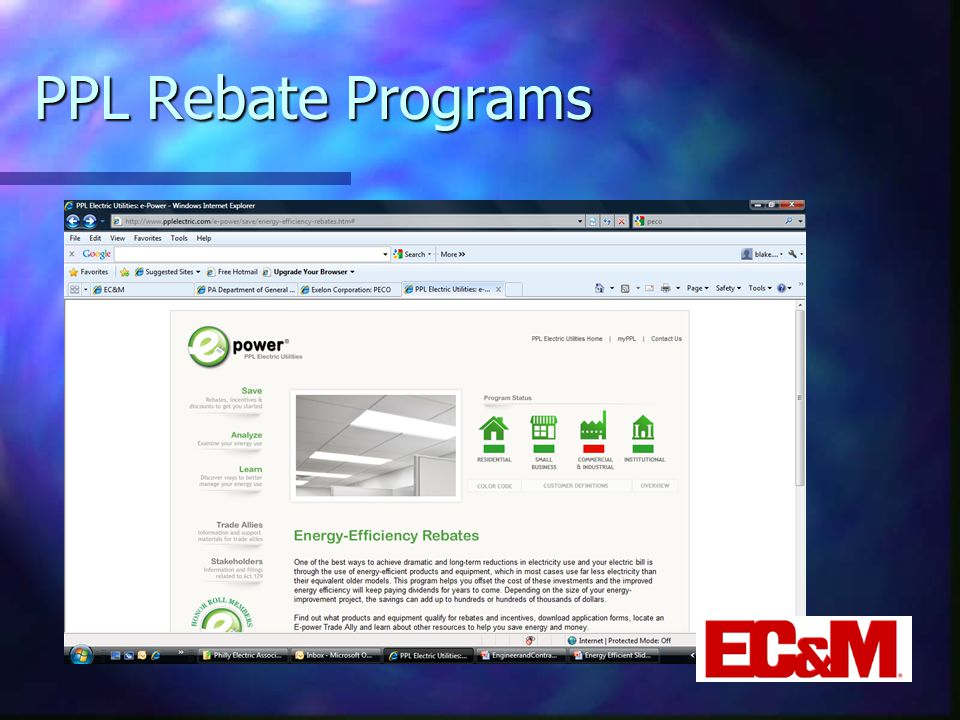 PPL Rebate Programs