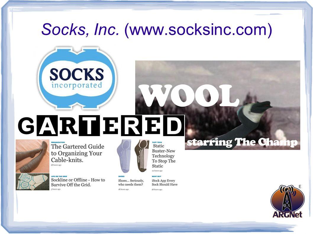 Socks, Inc. (www.socksinc.com) E