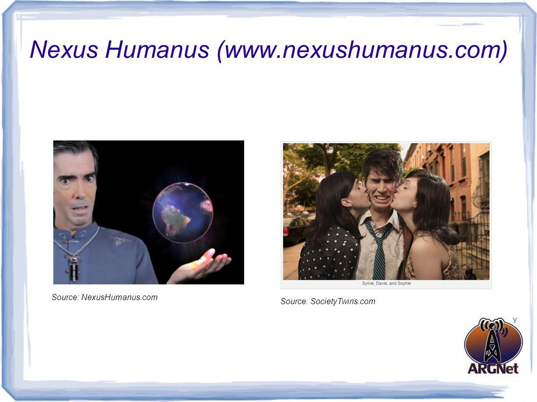 Nexus Humanus (www.nexushumanus.com) Source: SocietyTwins.com Source: NexusHumanus.com Y