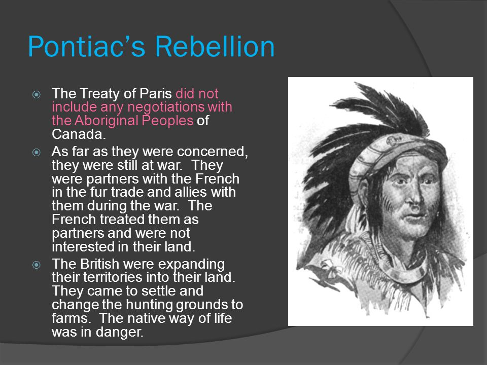Pontiac's Rebellion  The Ottawa warriors gathered in a council of war to hear Pontiac's message.