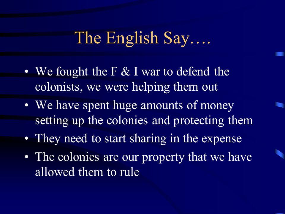 The English Say….