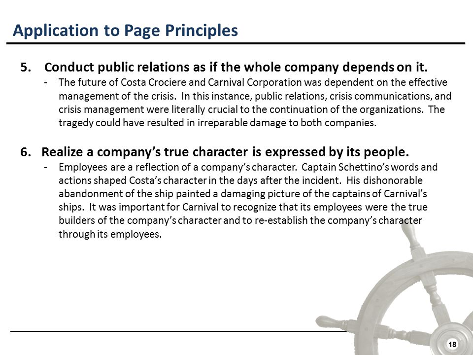 18 Application to Page Principles 5.