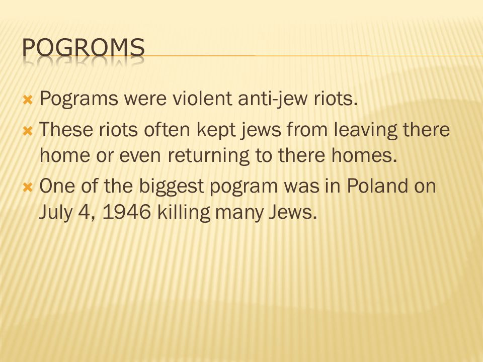 Many people were left homeless after the holocaust and were sent to DP camps.