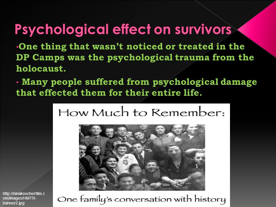 The Cause of the Trauma F The main cause of the trauma was that people couldn't not express their emotions or stories without being rejected by society.