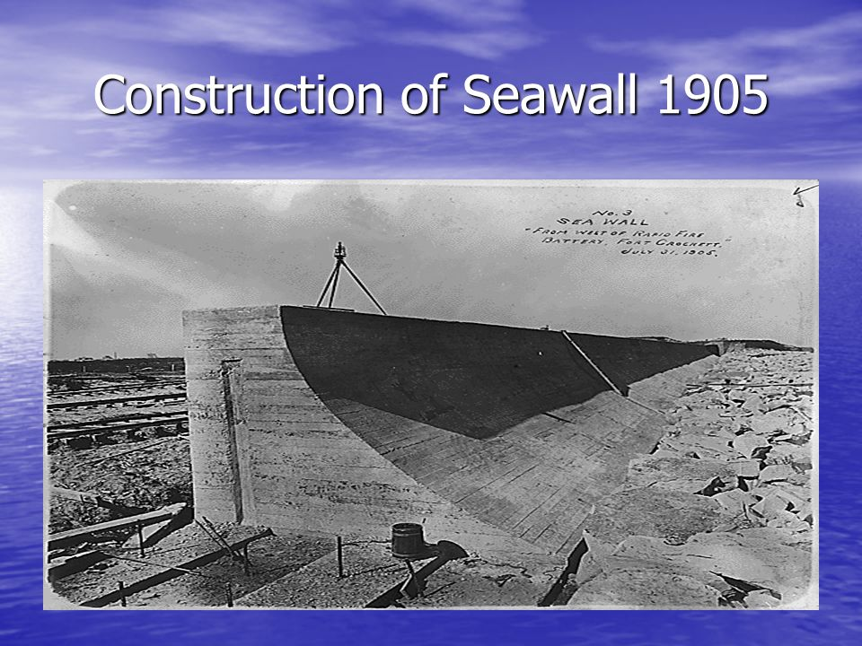 Construction of Seawall 1905