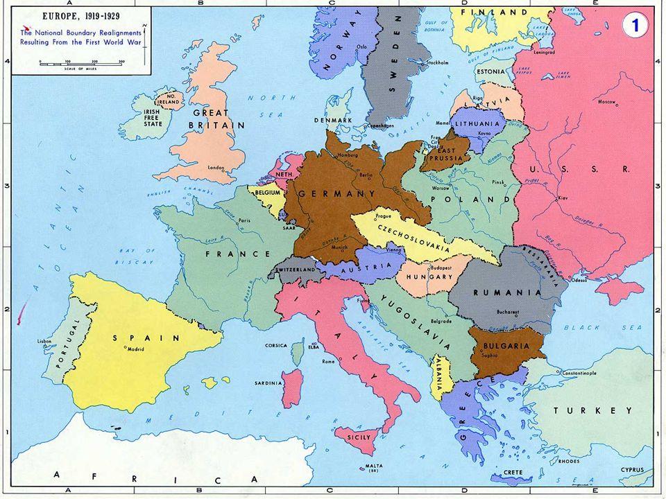 New Nations created by the Treaty of Versailles Latvia Lithuania Estonia Poland Austria Hungary Yugoslavia Czechoslovakia