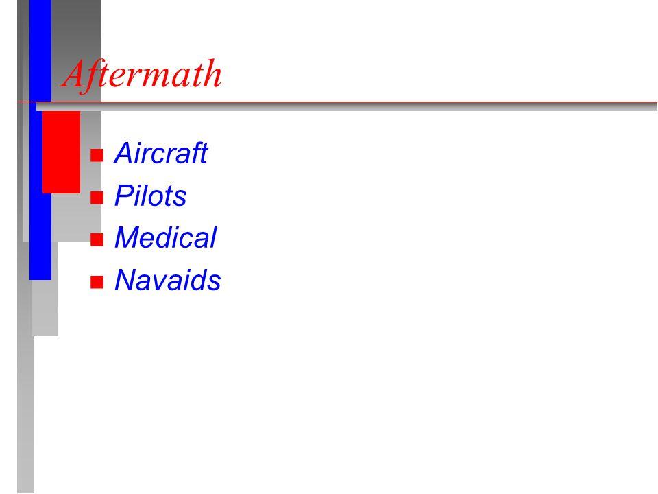 Aftermath n Aircraft n Pilots n Medical n Navaids