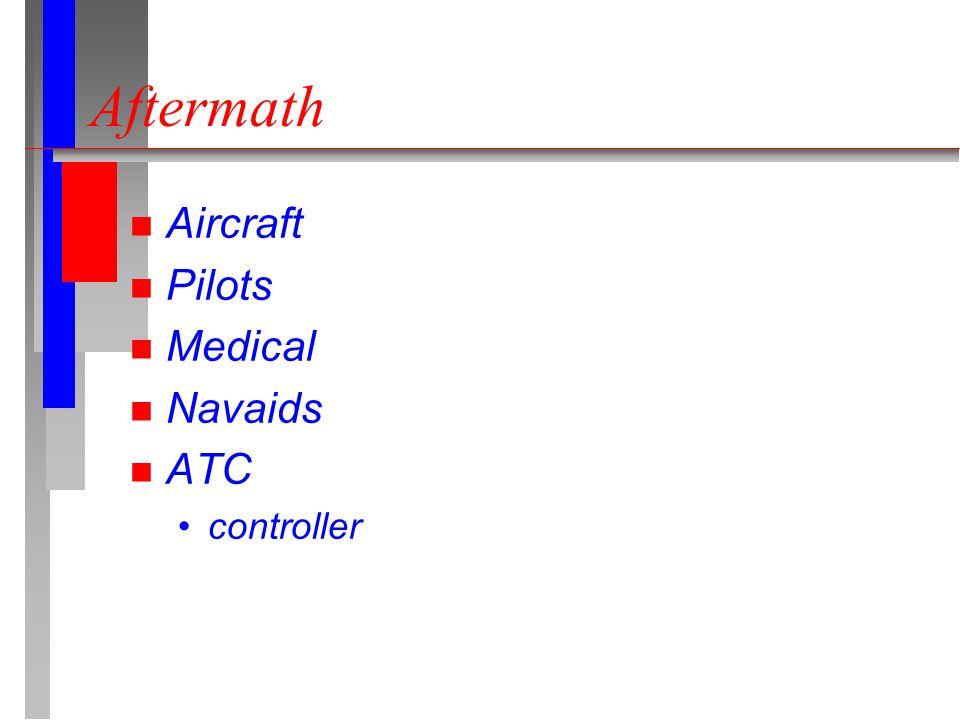 Aftermath n Aircraft n Pilots n Medical n Navaids n ATC controller