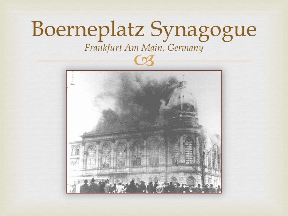  Boerneplatz Synagogue Frankfurt Am Main, Germany